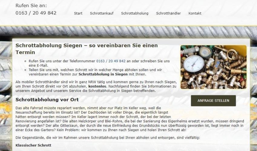 Schrottabholung Siegen (Sonstige Veranstaltung | Siegen)