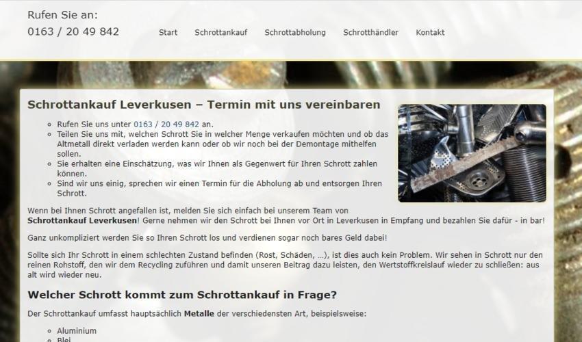 Der Schrottankauf in Leverkusen kauft Ihren Schrott zu fairen Preisen an (Sonstige Veranstaltung   Online)