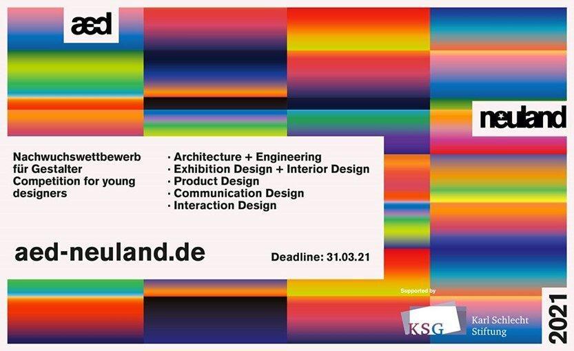 "Last call for entries! Endspurt bei aed ""neuland"" 2021 (Sonstige Veranstaltung   Online)"