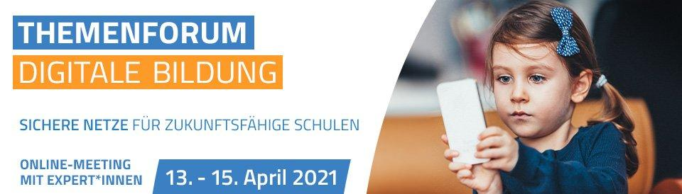 "Themenforum ""Digitale Bildung"" (Webinar 