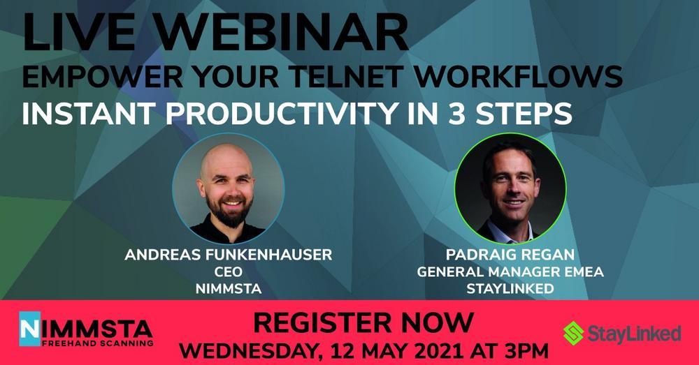 EMPOWER YOUR TELNET WORKFLOWS: INSTANT PRODUCTIVITY IN 3 STEPS (Webinar | Online)