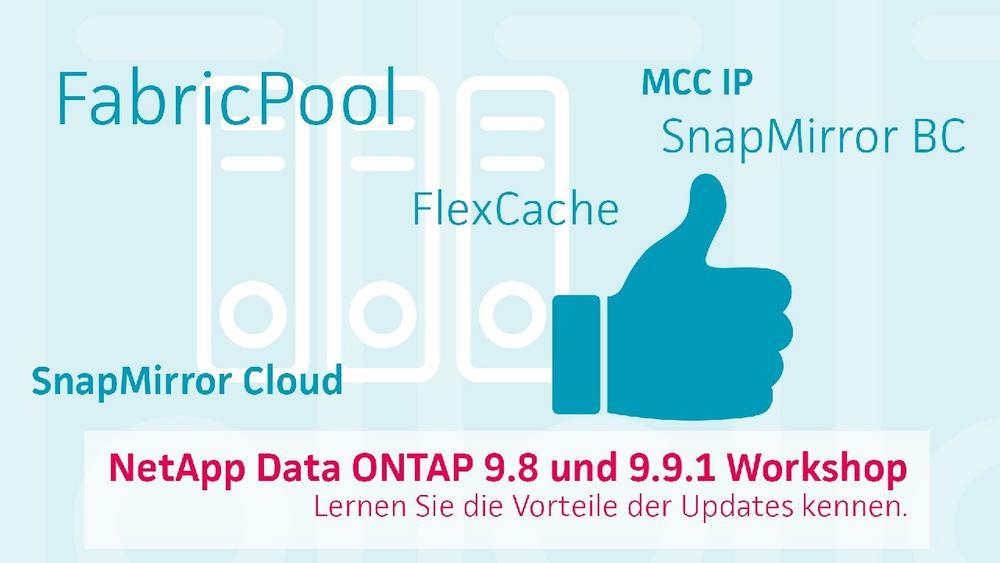 NetApp Data ONTAP – profitieren Sie von den Vorteilen der Updates 9.8 und 9.9.1 (Webinar   Online)