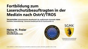 Laserschutzbeauftragtenkurs nach OstrV/TROS (Schulung   Online)