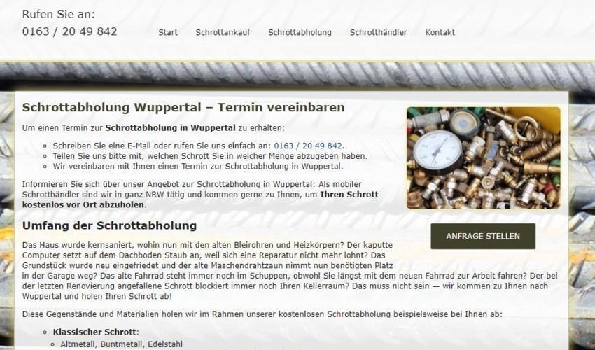 Schrottabholung in Wuppertal – Abholung Altmetall kostenlos (Sonstige Veranstaltung   Wuppertal)