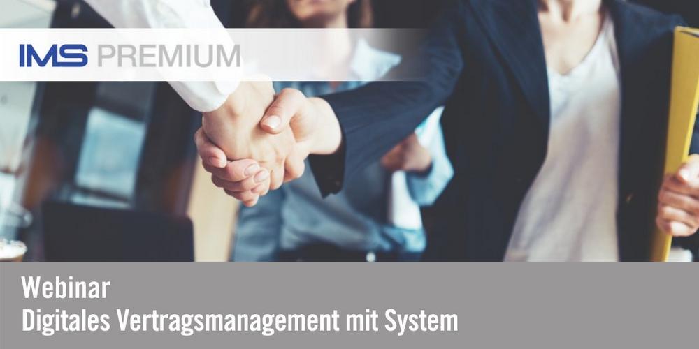 Digitales Vertragsmanagement mit System (Webinar | Online)