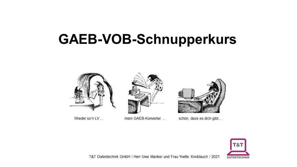Online-GAEB-VOB-Schnupperkurs 03.09.2021 (Vortrag | Online)