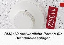 BMA: Verantwortliche Person nach DIN 14675 für Brandmeldeanlagen (TÜV) (Schulung   Aalen)