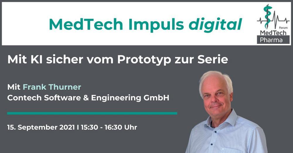 MedTech Impuls digital: Mit KI sicher vom Prototyp zur Serie (Webinar   Online)
